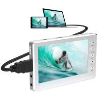 "DIGITNOW HD Video Capture Box 1080P 60FPS USB 2.0 Video to Digital Converter with 5"" OLED Screen, AV&HDMI Video Recorder Capture from VCR, DVD, VHS Tapes, Hi8, Camcorders, Gaming Systems -Silver"