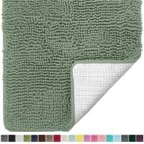 Gorilla Grip Original Luxury Chenille Bathroom Rug Mat, 36x24, Extra Soft and Absorbent Shaggy Rugs, Machine Wash and Dry, Perfect Plush Carpet Mats for Tub, Shower, and Bath Room, Sage Green