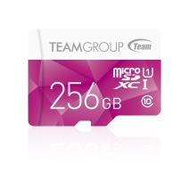 TEAMGROUP Color Card I 256GB MicroSDXC Class 10 UHS-I U1 High Speed Flash Memory Card - Read up to 80MB/s for Full HD Camera Recording Shooting, Smartphone (TCUSDX256GUHS02)