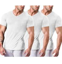 COOFANDY Men's 3 Pack Workout T Shirts Short Sleeve Gym Bodybuilding Muscle Shirts Base Layer Fitness Tee Tops