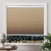 Grandekor Window Blinds Cordless Cellular Shades Blackout Fabric Shades Honeycomb Door Shades Pale Beige-White, 36x64 inch