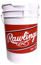 Rawlings Official League Competition Grade Youth Baseballs, Bucket of 24 ROLB1X Balls (Ages 14 & Under), White