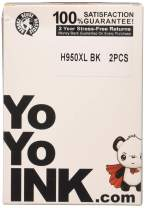 YoYoInk Remanufactured Ink Cartridge Replacement for HP 950 XL 950XL (2 Black; 2 Pack)