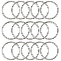 Key Rings Key Chain Metal Split Ring Bulk (Round Edged 1 Inch Diameter) 250pcs, for Home Car Keys Organization, Arts & Crafts, Lanyards, Lead Free Nickel Plated Silver