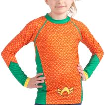 Fusion Aquaman Kids Compression Shirt BJJ Rash Guard- Long Sleeve