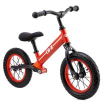 """CO-Z Kids Balance Bike for 2-5 Year Olds with 12"""" Rubber Air Tires, Easy Step Through Frame Bike for Boys and Girls, No Pedal Toddler Scooter Bike, Ride On Toy for Children, Lightweight Kids Bicycle"""