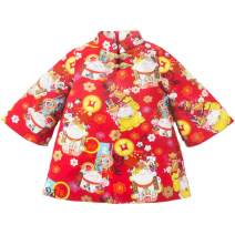 Baby Girl Qipao Coat Cheongsam Traditional Chinese Dress for Toddler Chi Pao