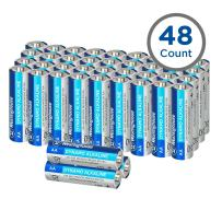 Westinghouse Alkaline AA Batteries (Bulk Pack 48 Count), Leak-Proof & Long-Lasting Technology Double A Primary Batteries with Lasting Power for High Drain Devices (Non-Rechargeable)