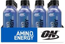 Optimum Nutrition Essential Amino Energy Ready-To-Drink, Blueberry Lemonade, Keto Friendly BCAAs, Preworkout and Essential Amino Acids with Green Tea and Green Coffee Extract, 12 Pack