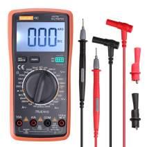 Digital Multimeter, Electronic Measuring Instrument AC Voltage Detector Portable Amp/Ohm/Volt Test Meter Multi Tester/Diode and Continuity Test