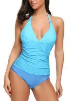 Avidlove Womens One Piece Swimsuit Halter Tummy Control Monokini Bathing Suit