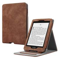 Fintie Flip Case for Kindle Paperwhite (Fits All-New 10th Generation 2018 / All Paperwhite Generations) - Slim Fit Vertical Multi-Viewing Stand Cover with Auto Sleep/Wake, Rustic Brown