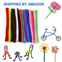 WIWAPLEX 150 Pcs 15 Colors Pipe Cleaners, Assorted Pipe Cleaner, Art Supplies Chenille Stems 6 mm x 12 Inch, Pipe Cleaners Craft Decorations, Children Kids Plush Educational Toy Handmade DIY Craft