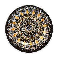 """Bowla Melamine Dinner Plates Set - Set of 6, indoor or ourdoor plates (9""""-6 Piece Set, India Style)"""