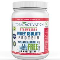Lactose Free 100% Whey Isolate Low Carb Protein Powder Under 1 Gram Sugar Strawberry Protein Powder for Women Weight Loss & Men Post Workout Recovery Drink Meal Replacement Shakes Keto Protein Powder