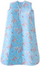 Halo SleepSack, Micro-fleece, Pretty Floral, Aqua, Small