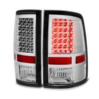 VIPMOTOZ Chrome Housing LED Tail Light Housing Lamp Assembly For 2009-2018 Dodge RAM 1500 2500 3500 Incandescent Model, Driver & Passenger Side
