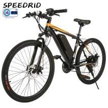 Speedrid 26/27.5 Electric Bike, Aluminum Alloy ebike with Removable 36V 7.8 Ah 10.4Ah Lithium-ion Battery