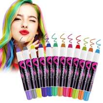 VSADEY Hair Chalk for Girls Kids, 12 Color Temporary Hair Chalk Pens Crayon, Non-Toxic Washable Hair Color Dye Kit Safe for Makeup Birthday Party Halloween Christmas Gift for Girls Kids Teen Gifts