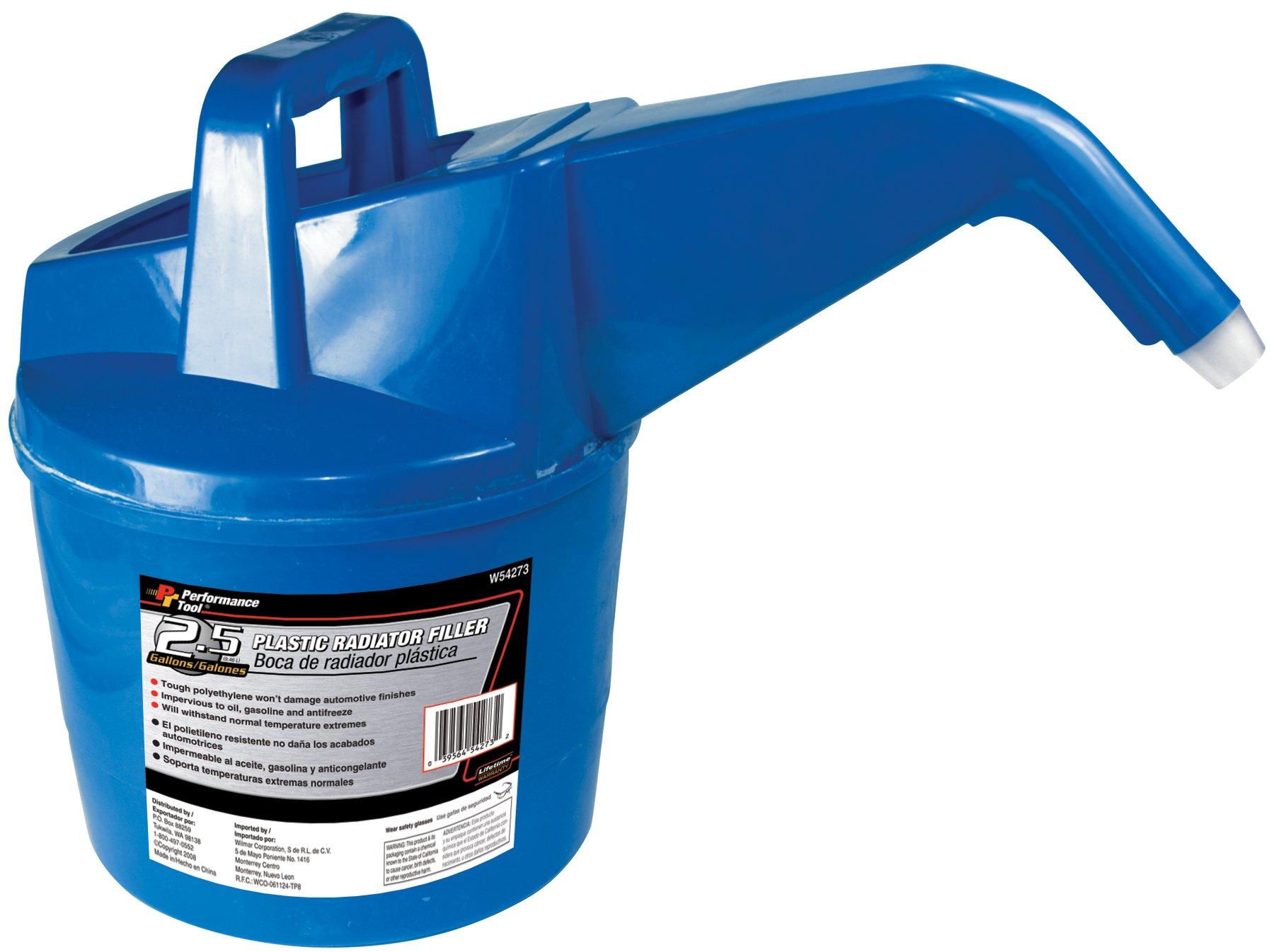 Performance Tool W54273 Plastic Radiator Filler - 2.5 Gallon