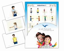 Yo-Yee Flashcards - Adjectives and Opposites Flash Cards - Set 1 - Vocabulary Picture Cards for Toddlers 2-4 Years, Kids, Children and Adults - Flash Cards for Toddlers 2-4 Years
