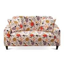Travan Printed Sofa Cover Stretch Sofa Slipcover Spandex Couch Cover Stylish Couch Furniture Protector for 4 Cushion Couch with Two Free Pillowcases