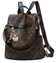 Caistre Women's Fashion Rucksack Lightweight Anti-theft Waterproof Casual School Zipper Shoulder Bag PU Mini Backpack Purse