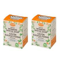 Balade En Provence Women?s Handmade Organic Gentle Shaving Soap, Orange Flower - Long Lasting Nourishing Shea Butter Formula, Eco Friendly, Sulfate Free, Vegan Certified, 1.66 oz (Pack of 2)