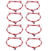 choice of all 6-8 Evil Eye Bracelet for Women Red String Rope Handmade Adjustable Waterproof Lucky Ojo Bracelets for Men