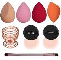 JPNK 10PCS Makeup tool set, Blender Sponges& Air cushion puff&Sponge Holder for Blending Liquid, Cream or Flawless Powder Cosmetics