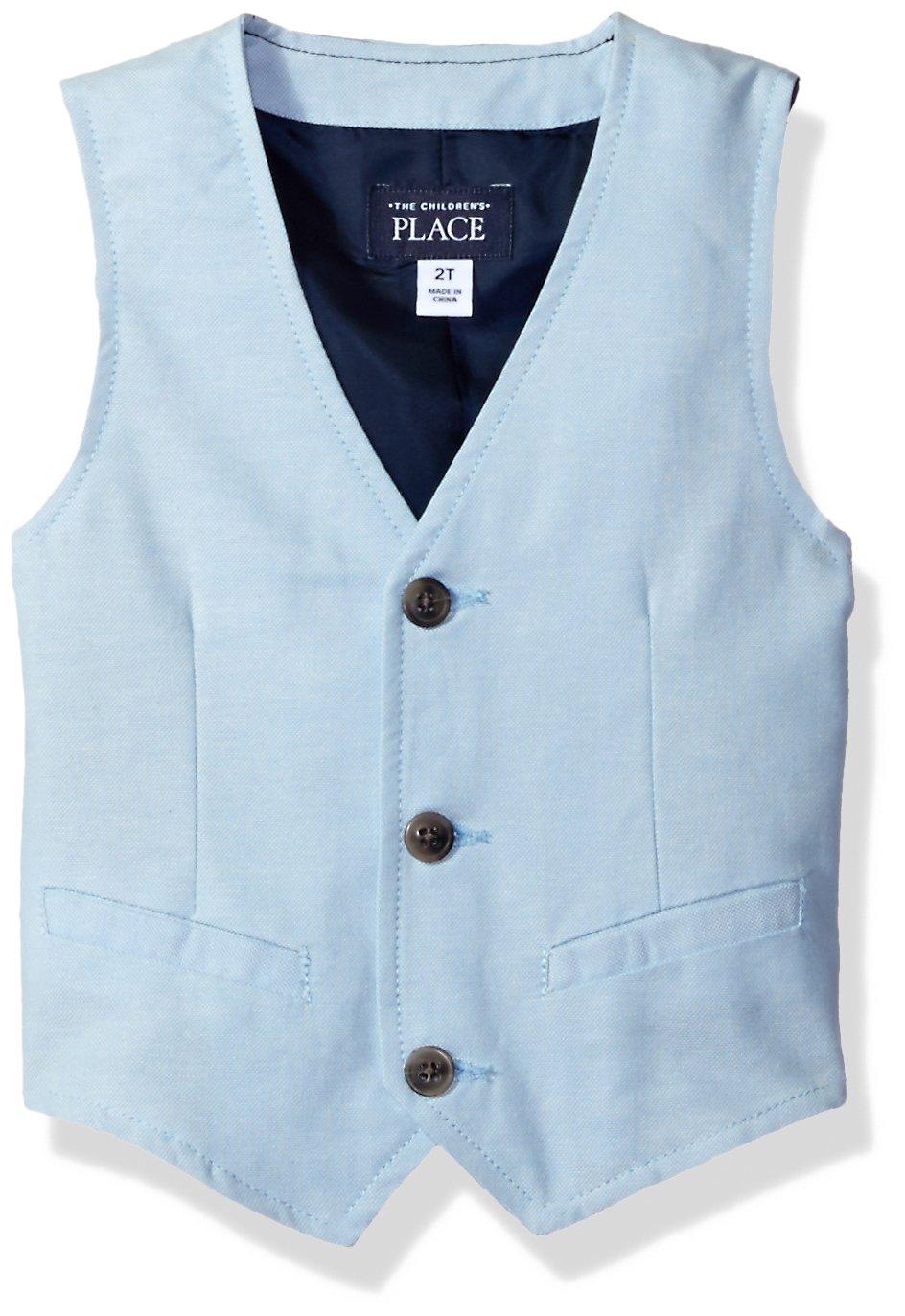 The Children's Place Baby Boys Dress Vest, Sky Blue, 3T