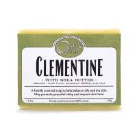 Opas 100% Natural Clementine Soap, Carcinogen Free, Cold Processed, Positive Thoughts, Uplifting, with Shea Butter and Ylang Ylang, Bergamot, Lavender Essential Oils