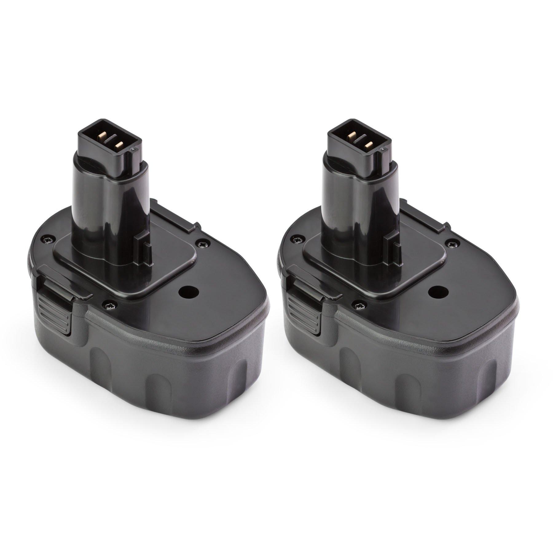 ExpertPower 2 Pack ExpertPower 14.4v 1500mAh NiMh Replacement Battery for Dewalt DC9091 DW9094 DW9091 DE9038 DE9091 DE9092 DE9094 DE9502