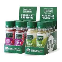 Variety Pack Gut Shot by Farmhouse Culture for Immunity Support, Ginger Beet and Garlic Dill, Fermented, Naturally Probiotic Organic Vegetables, 2 oz Bottles, 16 Pack