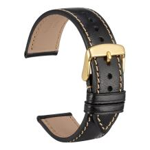 WOCCI Watch Band 18mm 20mm 22mm Sports Style Full Grain Leather Strap - Choose Color & Width