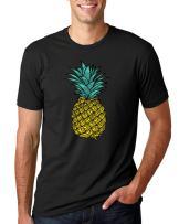 Wild Bobby Trendy Tropical Pineapple | Mens Fashion Tee Graphic T-Shirt