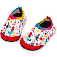 Apolter Baby Boys and Girls Water Shoes Barefoot Aqua Socks Shoes Non-Slip for Beach Pool