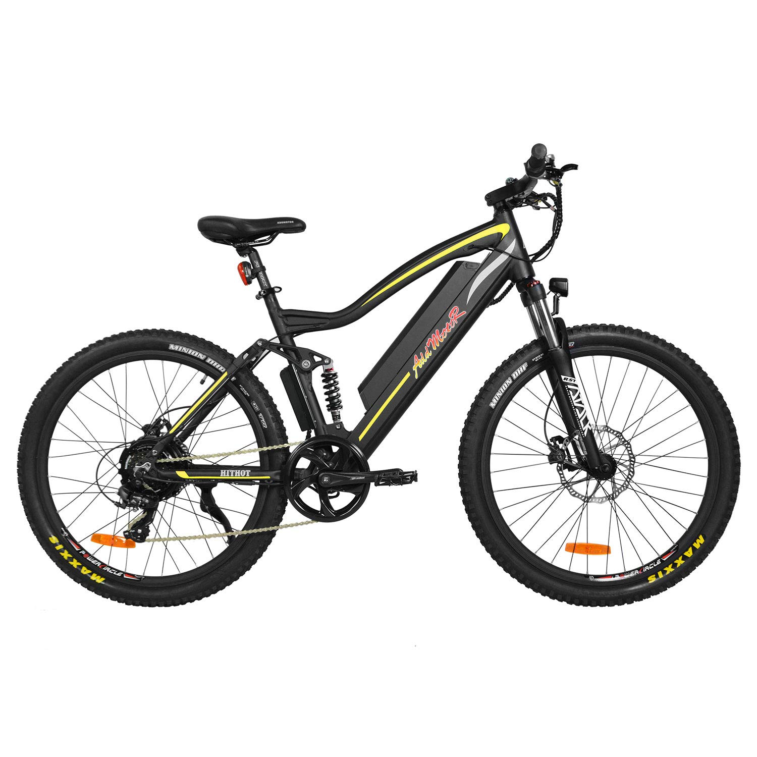 Addmotor Electric Bike Adult Electric Mountain Bike, 500W 27.5'' Electric Bicycle All Terrain, Adult Ebike with Removable 48V11.6AH Lithium-Ion Battery for Mens, 7 Speed Shifter, HITHOT H1-P E-Bike