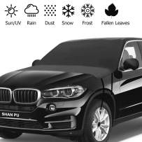 Yeewell Car Windshield Sun Shade - Waterproof Car Windshield Sun Cover - Automotive Windshield Cover Anti-Dust Protector with Elastic Belt and Hooks, 81 inch x 59 inch Fits Most Car,SUV,Truck