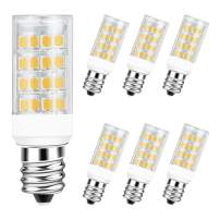 DiCUNO E12 Candelabra LED Bulb 4W (40W Equivalent), Warm White 3000K Non-dimmable Candle Base Light Bulbs for Ceiling Fan, Chandelier, Indoor Decorative Lighting 6 Packages
