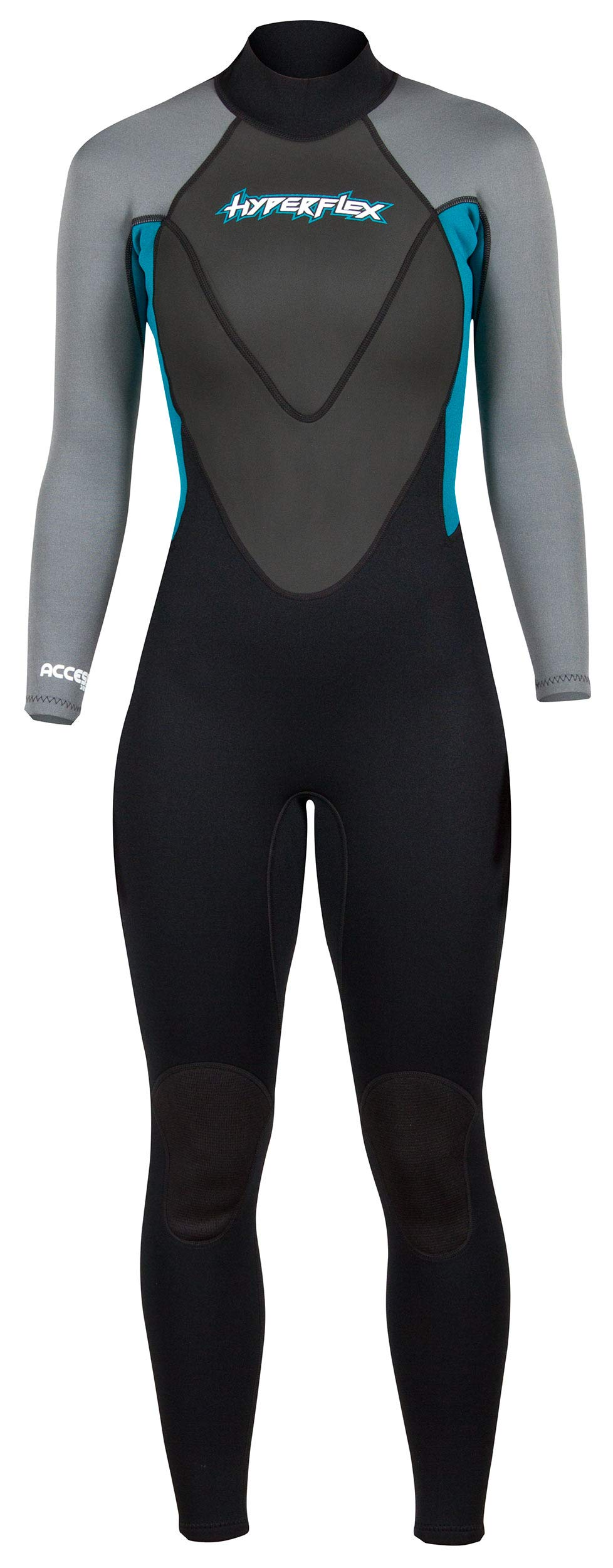 Hyperflex Men's and Women's 3mm Full Body Wetsuit – SURFING, Water Sports, Scuba Diving, Snorkeling - Comfort, Flexible, Anatomical Fit - and Adjustable Collar
