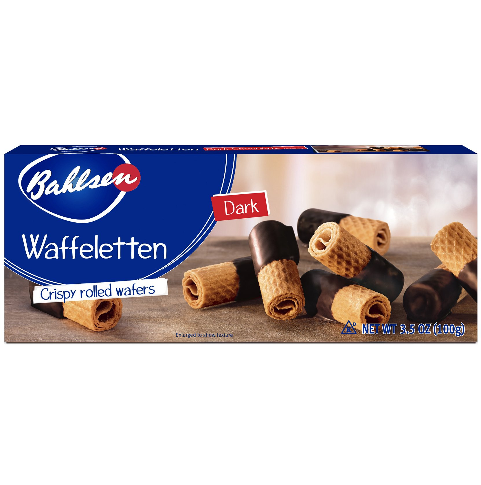 Bahlsen Waffeletten Dark Chocolate Dipped Cookies 3.5 Ounces (Pack of 1)