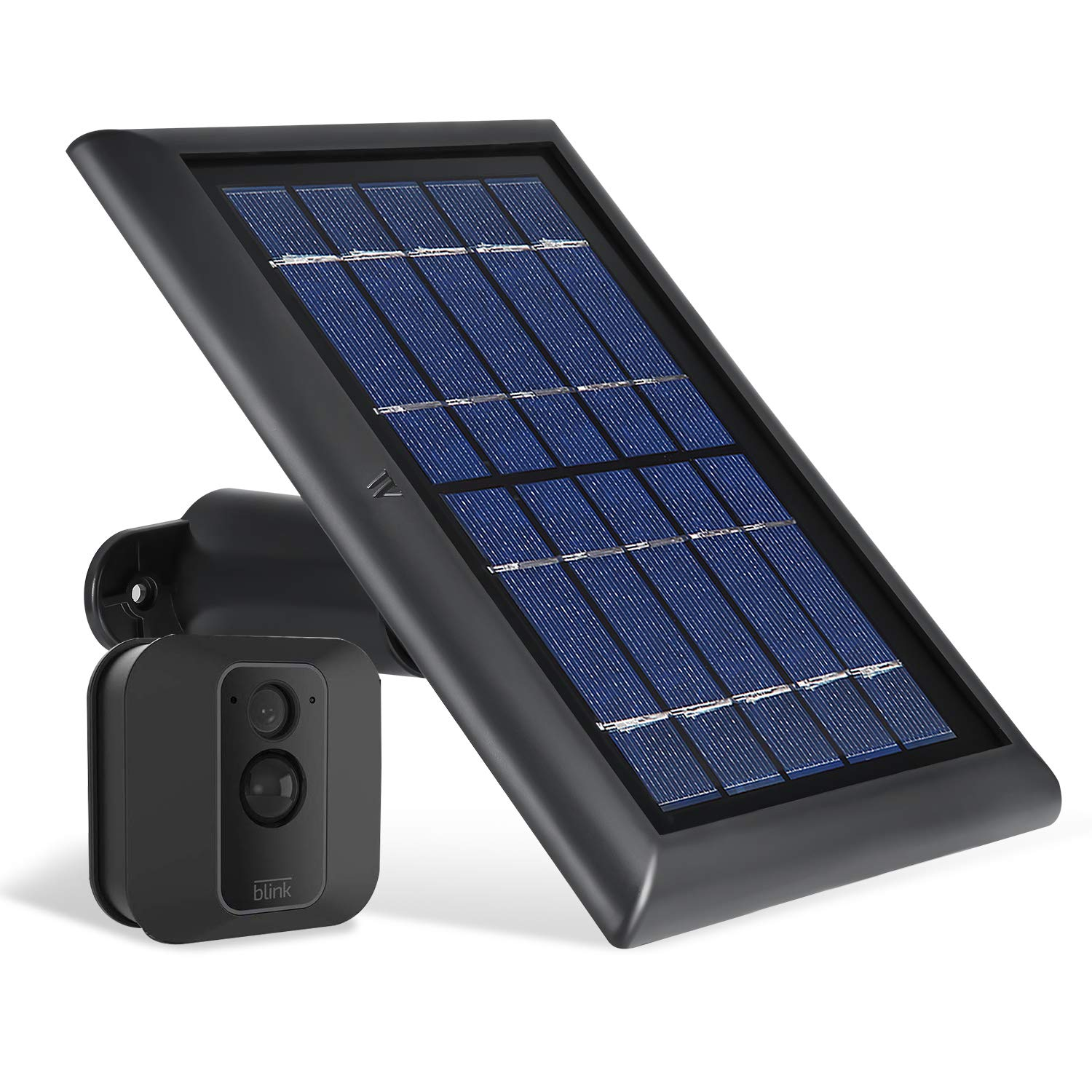 Wasserstein Solar Panel with Internal Battery Compatible with Blink XT and Blink XT2 Outdoor Camera (Black)