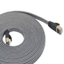 LanYunUmi Cat7 65ft Ethernet Cable Nylon Braided Cat 7 65FT Internet Cable RJ45 Network Cable Cat7 LAN Cable for PC Mac Router Laptop LAN Cable for PC Laptop Modem Router Cable Ethernet (65FT)