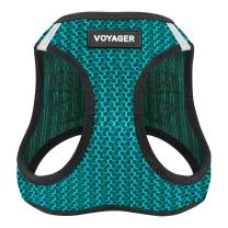 "Best Pet Supplies Voyager Step-in Air Dog Harness - All Weather Mesh, Step in Vest Harness for Small and Medium Dogs by Best Pet Supplies - Turquoise, Large (Chest: 18"" - 21""), 207-TQ-L"