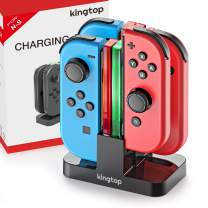 Charging Dock Stand for Nintendo Switch KINGTOP Joy-Con Controllers Charger Station with Individual LEDs Indicator and Type C Charging Cable