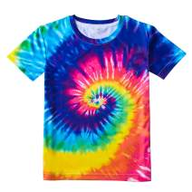 Losturban Big Boys' Girls' 3D Print Short Sleeve T-Shirt Kids Crew Graphic Tee