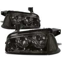 DNA MOTORING HL-OH-CHA05-4P-SM-CL1 Headlight Assembly (Driver & Passenger Side),Smoked clear