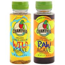 Chantico Agave Sweetener (Variety Pack,1 Bottle of Each Flavor) Organic Natural Sugar Substitute with a Low Glycemic Index and a Premium Food Taste - Stevia Alternative That Can Be Used For Baking