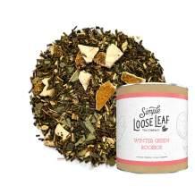 Simple Loose Leaf - Winter Green Rooibos Tea - Premium Loose Leaf Herbal Tea (4 oz) - Caffeine Free - Fresh and Clean - USA Hand Packaged - 60 Cups
